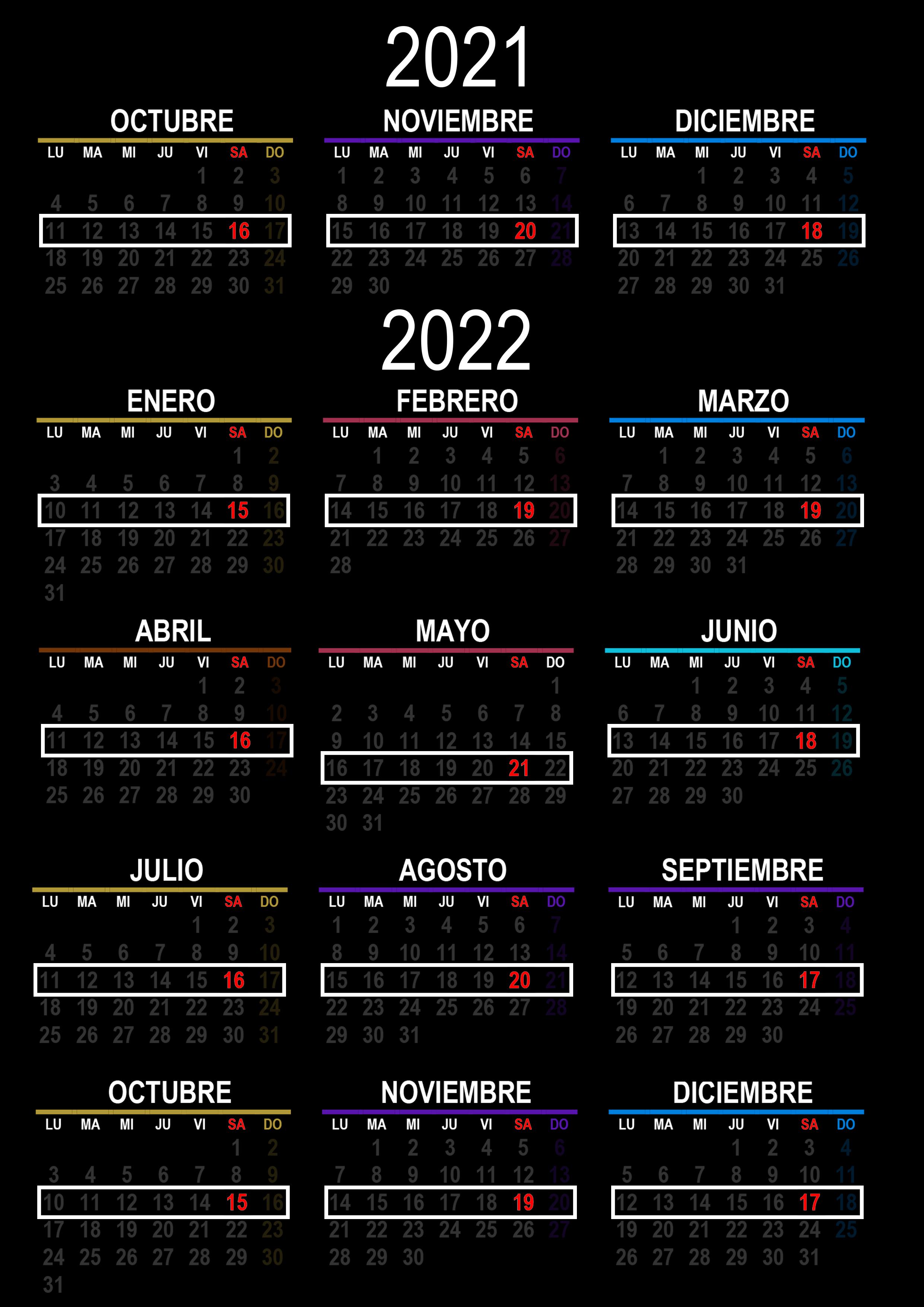 Milongas 2021 2022